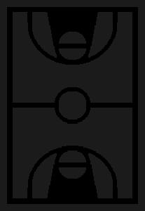 Icono de una cancha de baloncesto